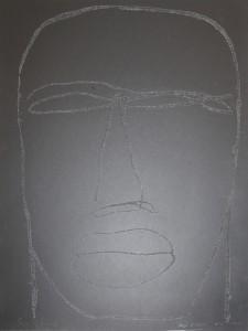 """Beatus Vir    l.50 x h.70 cm    1999    Serigrafia su carta    Prova d'Autore"