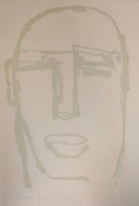 """Beatus Vir""    l.50 x h.70 cm    2000    Serigrafia su carta    I/XXX"