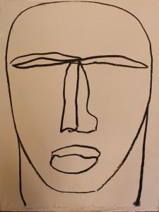 """Beatus Vir""    l.50 x h.70 cm    2000    Serigrafia su carta / Prova d'Autore"