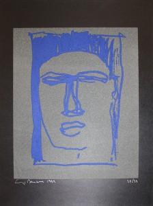 """""""Beatus Vir""""    l.50 x h.68 cm    1999    Serigrafia    37/99"""