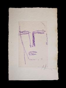 """""""Beatus Vir""""    l.26 x h.36 cm    2003    Pastello su carta"""