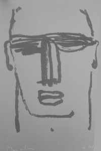 """Beatus Vir""    l.50 x h.70 cm    2000    Serigrafia su carta    I/32"